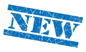 New grunge blue stamp
