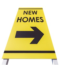 New Homes Sign Isolated