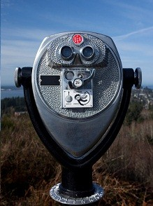 Binocular Viewing station in Astoria, Oregon