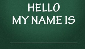 hello my name is title
